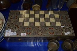 GAMES BOARD WITH INLAY DECORATION