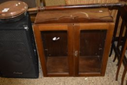 SMALL WALL DISPLAY CABINET, WIDTH APPROX 62CM