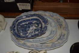 BLUE AND WHITE SERVING DISHES