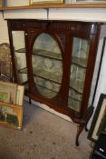 IMPRESSIVE STAINED WOOD DECORATIVE CHINA CABINET, WIDTH APPROX 122CM