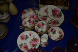 TEA WARES RETAILED BY THOMAS GOODE WITH A ROSE DESIGN