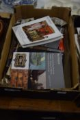 BOX CONTAINING BONHAMS AUCTION CATALOGUES