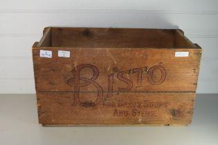 VINTAGE BISTO GRAVY WOODEN BOX