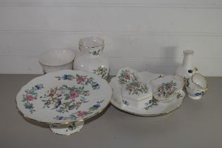 QUANTITY OF AYNSLEY PEMBROKE WARES INCLUDING A TAZZA, LARGE DISH, VASE ETC