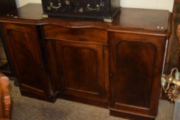 LATE 19TH CENTURY MAHOGANY BREAK FRONT SIDEBOARD, LENGTH APPROX 153CM