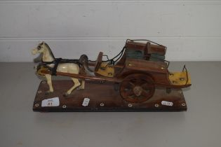 MODEL OF A HORSE AND CART