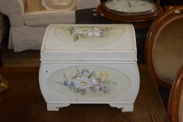 PAINTED WOOD STORAGE BOX, LENGTH APPROX 37CM MAX