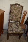 UPHOLSTERED HALL CHAIR