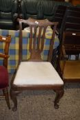 UPHOLSTERED DINING CHAIR, WIDTH APPROX 55CM