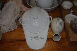 BEDPAN AND FURTHER BOOTS PAN
