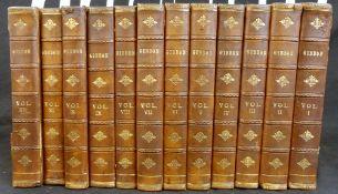EDWARD GIBBON: A HISTORY OF THE DECLINE AND FALL OF THE ROMAN EMPIRE, Edinburgh, 1811, 12 vols,