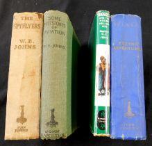 W E JOHNS: 4 titles: WINGS, London, John Hamilton [1931], 1st edition, 4 (of 5) plates, lacking