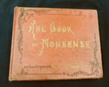 EDWARD LEAR: THE BOOK OF NONSENSE, London and New York, Frederick Warne, circa 1888, 26th edition,
