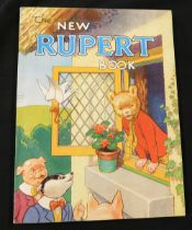"""THE NEW RUPERT BOOK, [1946], annual, price unclipped, inscription on """"This book belongs to"""" page,"""