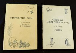 ALAN ALEXANDER MILNE: 2 titles: WHEN WE WERE VERY YOUNG, ill E H Shepard, London, Methuen, 1927,