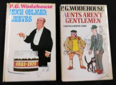 P G WODEHOUSE: 2 titles: MUCH OBLIGED JEEVES, London, Barrie & Jenkins, 1971, 1st edition, bookplate