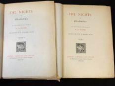 GIOVANNI FRANCESCO STRAPAROLA: THE NIGHTS OF STRAPAROLA, trans William George Waters, ill E R