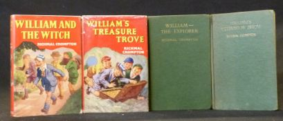 RICHMAL CROMPTON: 4 titles: WILLIAM'S TELEVISION SHOW, London, George Newnes, 1958, 1st edition,