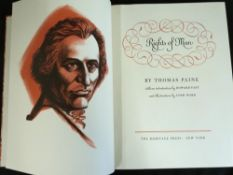 THOMAS PAINE: RIGHTS OF MAN, intro Howard Fast, ill Lynd Ward, New York, Heritage Press, 1961,