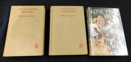 MALCOLM SAVILLE: 3 titles: LONE PINE FIVE, London, George Newnes, 1949, 1st edition, inscription