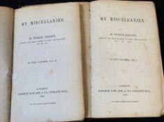 WILKIE COLLINS: MY MISCELLANIES, London, Samson Lowe, 1863, 1st edition, 2 vols, vol 1 16pp