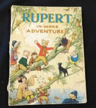 """RUPERT IN MORE ADVENTURES, [1944], annual, lacks """"This book belongs to"""" page, 4to, original"""