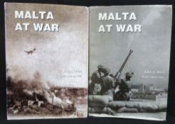 JOHN A MIZZI: MALTA AT WAR, Malta, Bieb Bieb Publications, 2001, 1st edition, 2 vols, 4to,