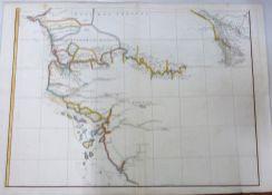 COMTE DE LA PEROUSE, one engraved map and two plans, circa 1787 comprising CARTE DE L'ARCHIPEL DES