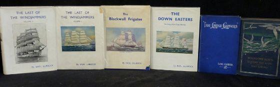 BASIL LUBBOCK: 5 titles: ROUND THE HORN BEFORE THE MAST, London, John Murray, 1903 reprint, original