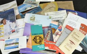 Packet: good quantity assorted maritime interest, mainly cruise liners including Cunard, P&O etc