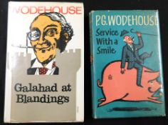 P G WODEHOUSE: 2 titles: SERVICE WITH A SMILE, London, Herbert Jenkins, 1962, 1st edition,