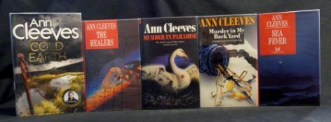 ANN CLEEVE: 5 titles: MURDER IN PARADISE, London, Century, 1988, 1st edition, original cloth, d/w;