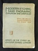 CHARLES HOLME (ED): MODERN ETCHING AND ENGRAVING, London, The Studio, 1902, 1st edition, 4to,