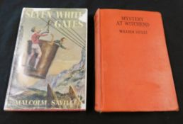 MALCOLM SAVILLE: 2 titles: MYSTERY AT WITCHEND, London, George Newnes, 1943, 1st edition, original