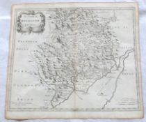 ROBERT MORDEN: THE COUNTY OF MONMOUTH, engraved map [1695], approx 345 x 450mm + HERMAN MOLL: