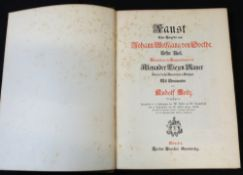 JOHANN WOLFGANG VON GOETHE: FAUST, Munchen, Theodor Stroefers, circa 1880, 9 etched plates as called
