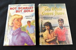 MALCOLM SAVILLE: 2 titles: SEA WITCH COMES HOME, London, George Newnes, 1960, 1st edition,