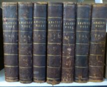 [FRANCIS CHILTON YOUNG] (ED): AMATEUR WORK ILLUSTRATED, London, Ward Lock, circa 1884-90, vols 1-