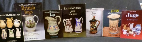 R K HENRYWOOD: 2 titles: RELIEF-MOULDED JUGS 1820-1900, Woodbridge Antique Collectors Club, 1985,