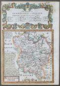 OWEN/BOWEN: 3 hand coloured engraved road maps circa 1736, printed recto and verso, comprising THE