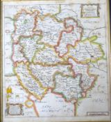 RICHARD BLOME: A GENERAL MAPP OF THE COUNTY OF HEREFORD, engraved hand coloured map [1673], approx