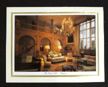 JOHN MAJOR, signed Christmas card when Prime Minister, coloured photograph of the Great Hall at