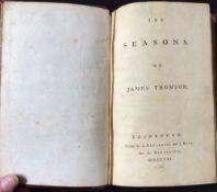 JAMES THOMSON: THE SEASONS, Edinburgh, printed by A Donaldson and J Reid for A Donaldson, 1761, 3 (