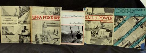 UFFA FOX: 4 titles: THOUGHTS ON YACHTS AND YACHTING, London, Peter Davies, 1943 reprint, 4to,
