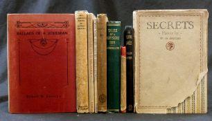 W H DAVIES: SECRETS, London, Jonathan Cape, 1924, 1st edition, original cloth backed battened