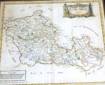 ROBERT MORDEN: BARKSHIRE, engraved hand coloured map [1695], approx 355 x 420mm, framed and glazed