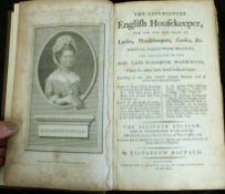 ELIZABETH RAFFALD: THE EXPERIENCED ENGLISH HOUSEKEEPER..., London for R Baldwin, 1794, 11th edition,
