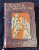 EMILE ZOLA: NANA, A REALISTIC NOVEL, London, Vizetelly, 1884, new edition, original pictorial