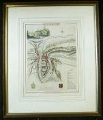 CHRISTOPHER SAXTON/WILLIAM KIP: WESTMORLANDIAE COMITATUS..., engraved hand coloured map circa