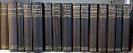 ROBERT LOUIS STEVENSON: 15 titles: mainly pub by Chatto & Windus 1896-1904, original cloth (15)